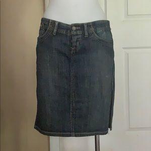 Women jean skirt